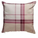 checked cushion in red