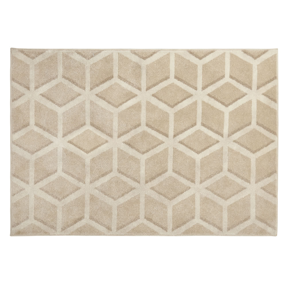 Wilko 120 X 170cm Natural Geometric Rug