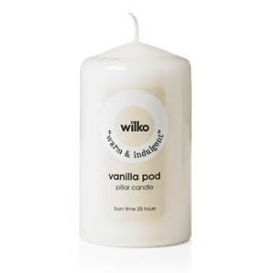 wilko white candle
