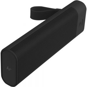 KitSound BoomBar+ Bluetooth Speaker Black on white background
