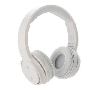 white wilko wireless headphones on white background