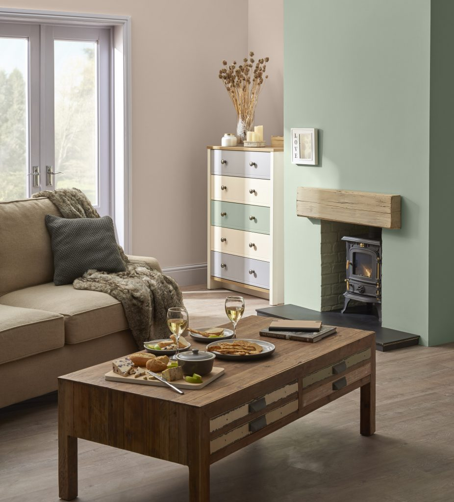 Upcycling furniture for a living room makeover