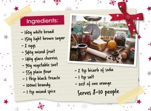Christmas pudding ingredients