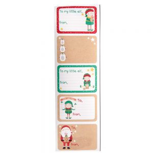 Sticky gift labels
