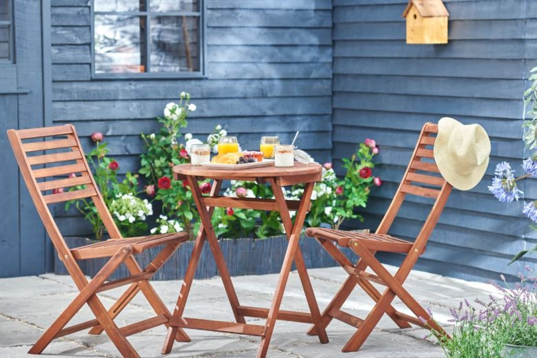 wilko wooden bistro set