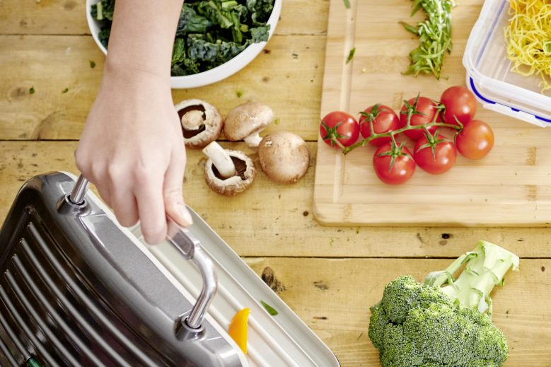 wilko healthy eating picture with grill and vegetables